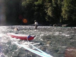 Working kayak upstream