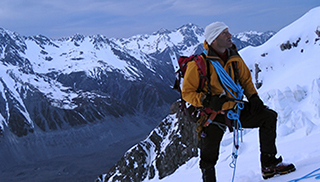 Belay on Mt Cook